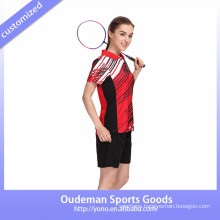 2017 Dry fit new design women badminton uniform